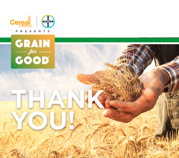 Grain for Good Entry Form Thank You