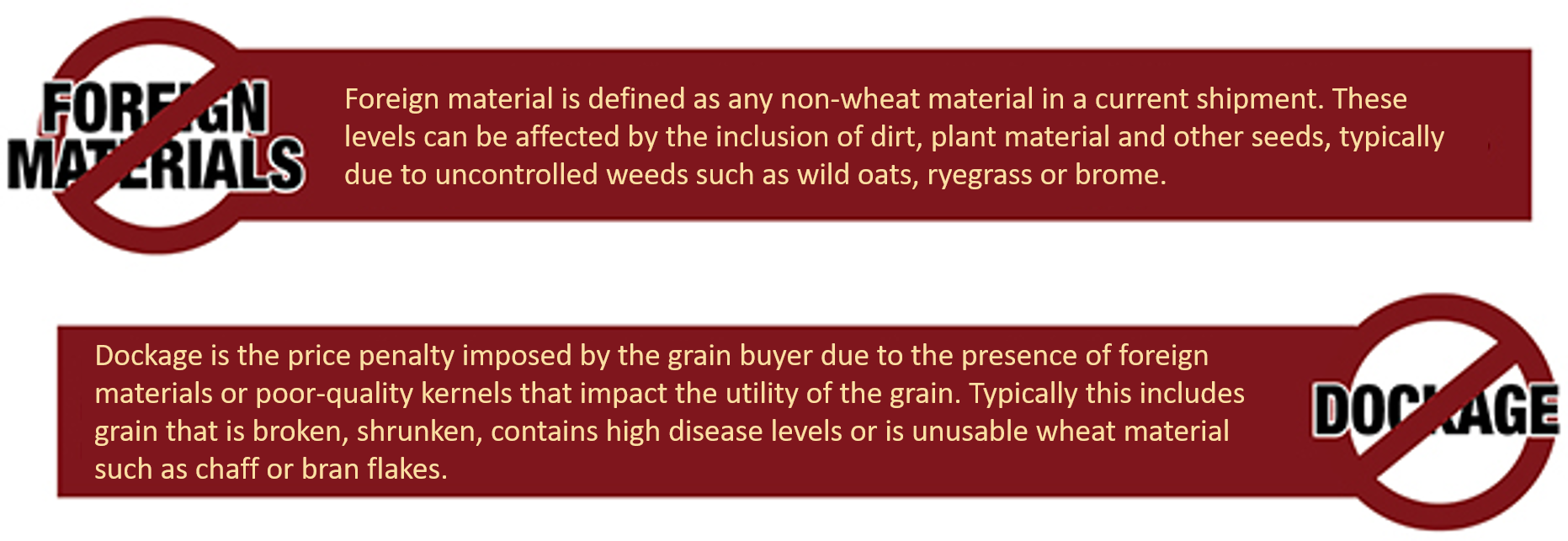 Grain quality vocab