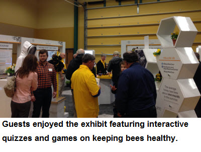Guests enjoyed the exhibit featuring interactive quizzes and games on keeping bees healthy.
