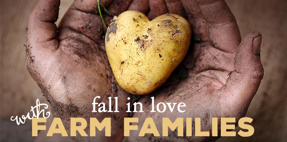 Fall in love with farm families Valentine's Day