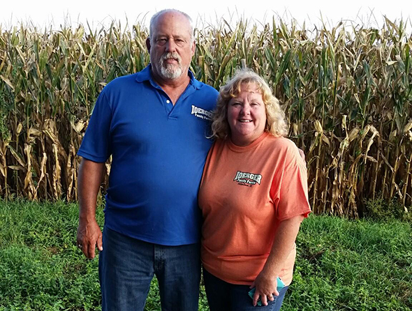 Lowell and Janet corn farming couple