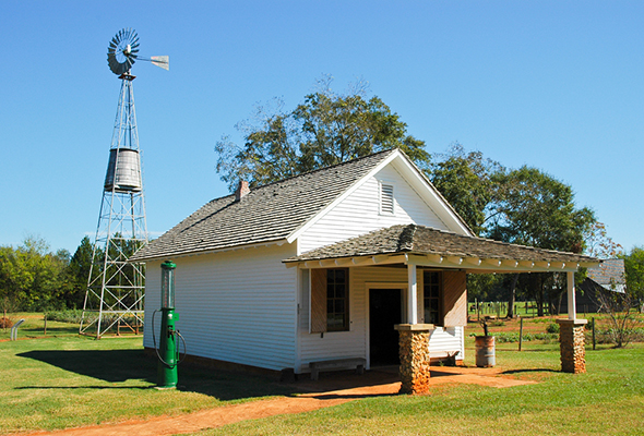 Farm building from the Jimmy Carter National Historic Site