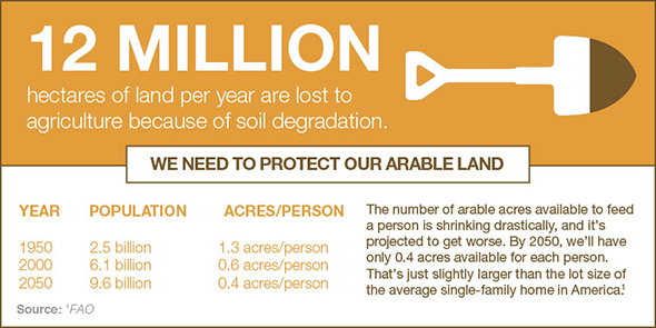 We need to protect our arable land