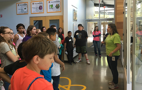 Helena Elementary School tour Bayer Bee Care Center
