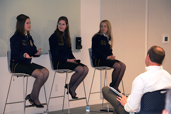 Bayer employees Q&A with National FFA officers