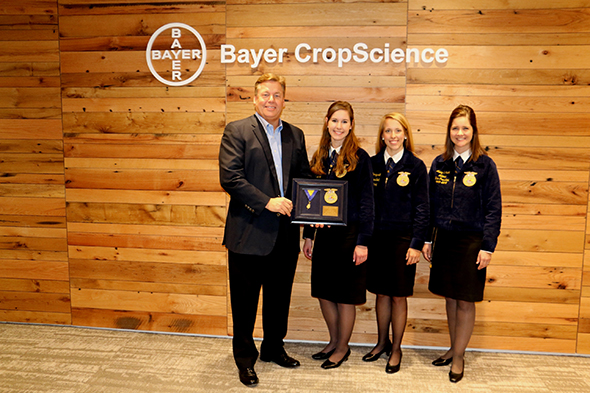 CEO and President Jim Blome poses with national FFA officers
