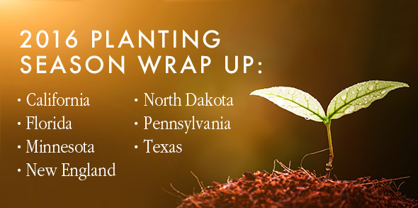 2016 planting season wrap up by state