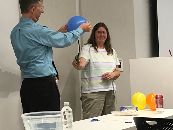 Making Science Make Sense hands-on balloon experiment