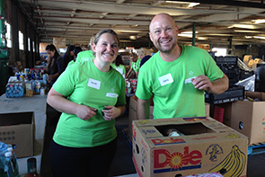 Bayer employees volunteer at Yolo Food Bank in Woodland, CA