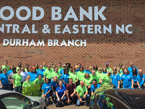 Bayer volunteers at Food Bank of Central and Eastern NC