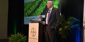 David Hollinrake, Vice President of North America Marketing for Crop Science, a Division of Bayer