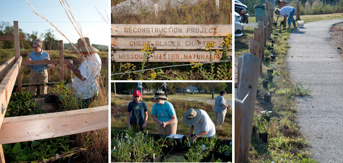 The Chert Glades Chapter of the Missouri Master Naturalists recently planted a 3-acre plot at the Old Redings Mill Bridge in Joplin, MO.