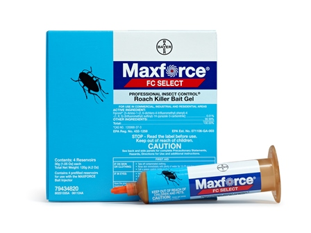 Maxforce FC Select is the ideal solution for maintenance control of normal and bait-averse strains of cockroaches