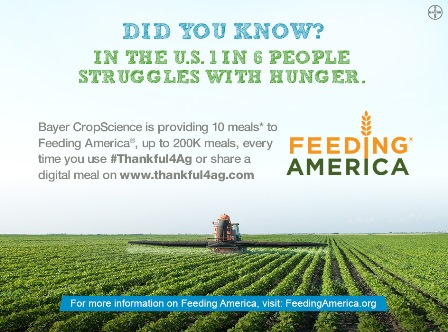 Bayer CropScience Feeding America Thankful4Ag