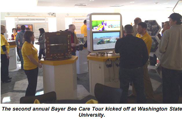 The second annual Bayer Bee Care Tour kciked off at Washington State University