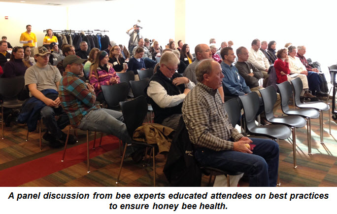 A panel discussion from bee experts educated attendees on best practices to ensure honey bee health.