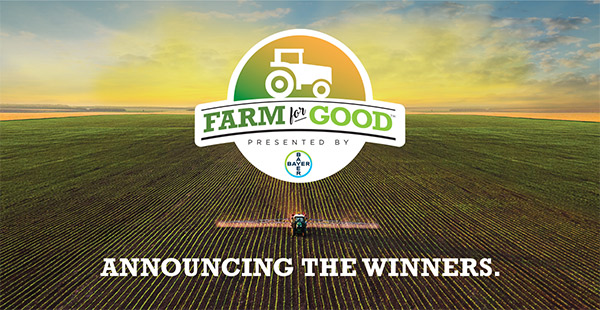 announcing thw winners of farm for good