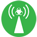 disease transmission green icon