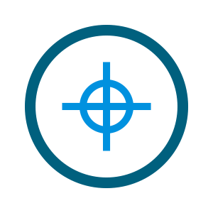 light blue crossshairs icon