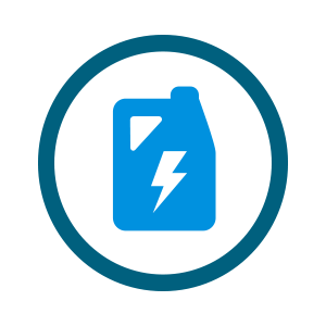 light blue jug icon with lightning bolt inside