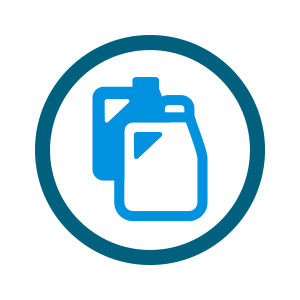 two blue jug icons