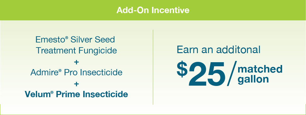 Bayer plus potato program add-on incentive chart