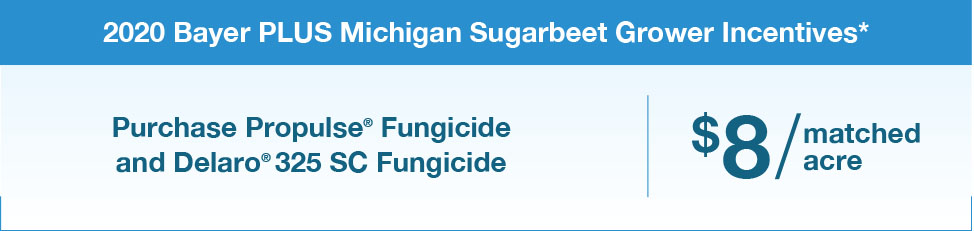 2020 bayer plus michigan sugarbeet incentives chart