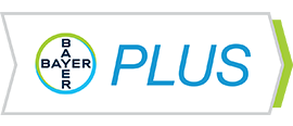 Bayer PLUS Rewards icon in black & white