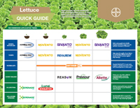 Application timing for lettus crops