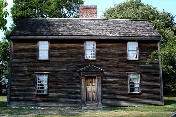 Birthplace of President John Quincy Adams in Quincy, MA