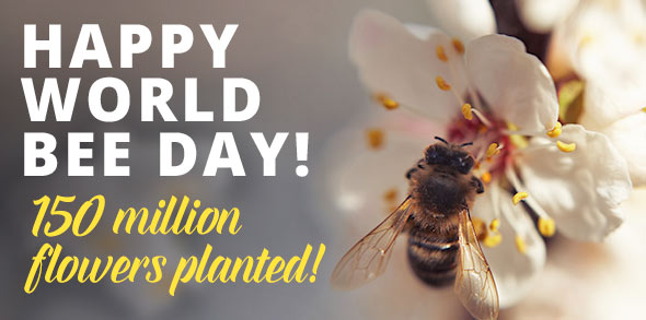 150 million flowers planted by Bayer Feed a Bee