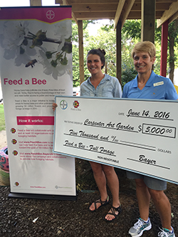 Dr. Becky Langer-Curry Feed a Bee donation in Memphis