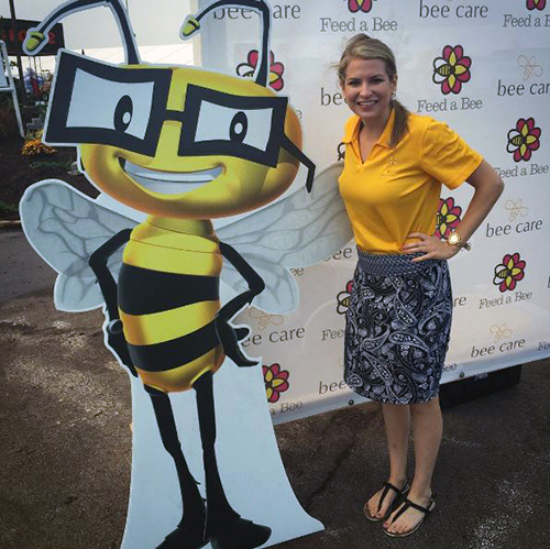 Selfies with Vitamin Bee at Farm Progress Show
