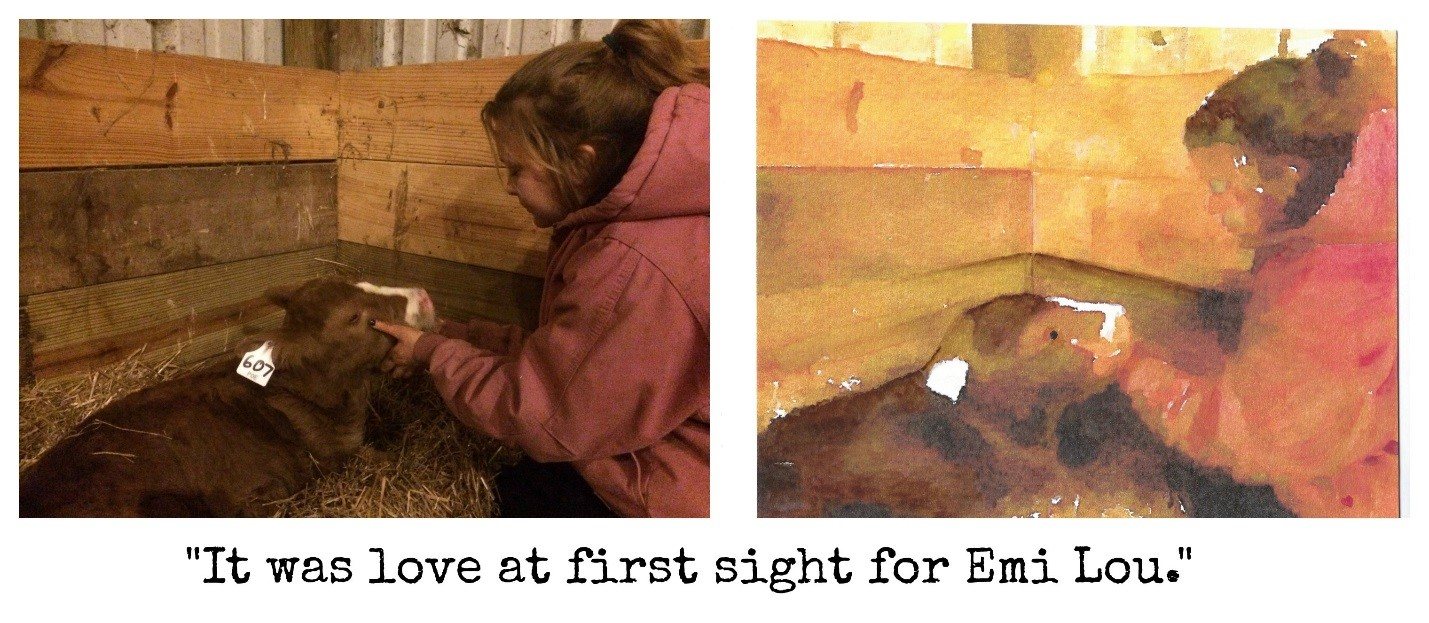 It was love at first sight for emi lou