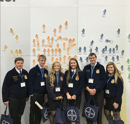 group photo of FFA students