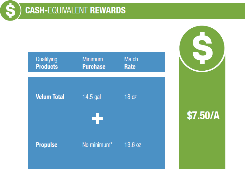Cash-Equivalent Rewards - Velum Total + Propulse Program